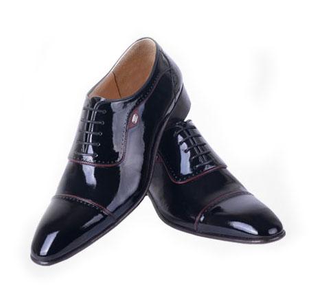 کفش مدل تاج ورنی مشکی